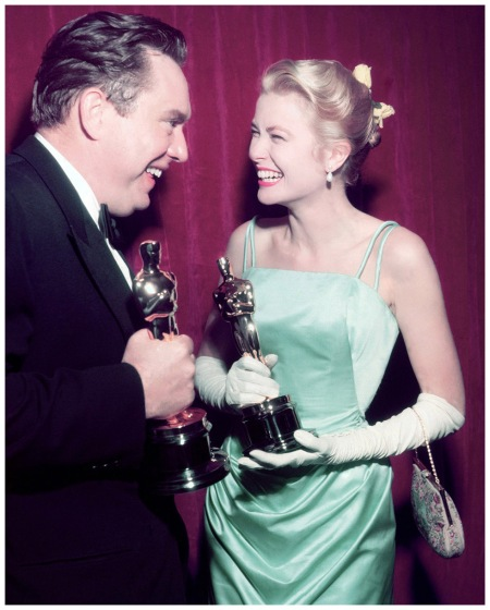 Grace Kelly wore a cool blue gown by Edith Head to receive the Best Actress Oscar for The Country Girl 1955