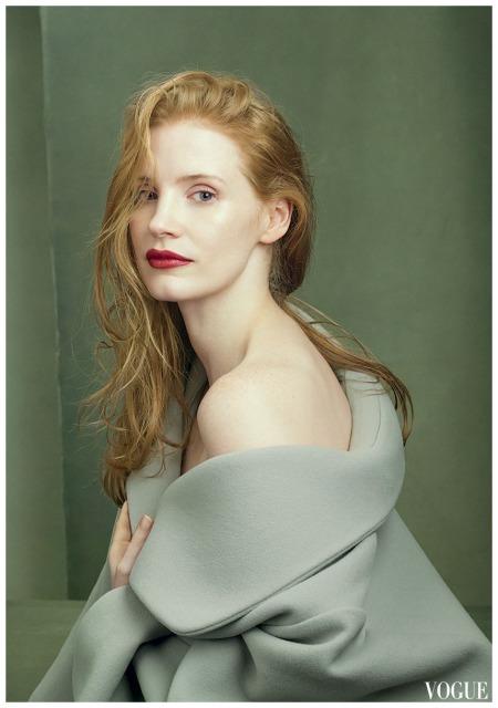 Jessica Chastain Annie Leibovitz, Vogue, August 2014