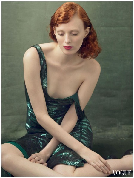 Karen Elson Annie Leibovitz, Vogue, August 2014