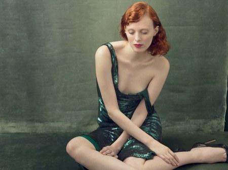Karen Elson in a Calvin Klein Collection Vogue, August 2014 © Annie Leibovitz