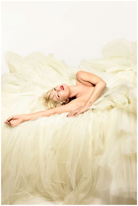 Kate Moss photographed in a Dior Couture gown for the December 2008 issue - this image appeared on the cover Photo Nick Knight