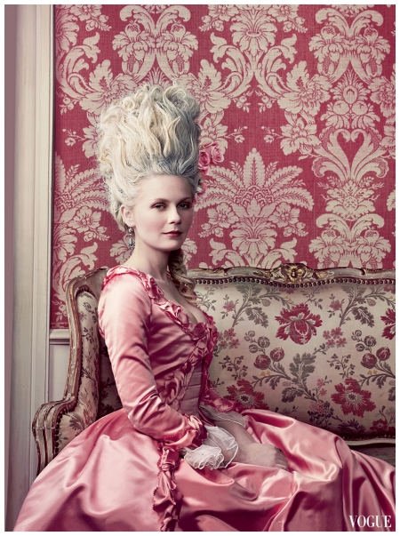 Kirsten Dunst as Marie Antoinette Annie Leibovitz, Vogue, September 2006