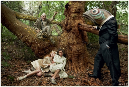 Lily Cole and Andrew Garfield Photo Annie Leibovitz, Vogue, December 2009