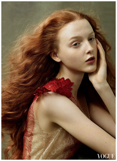 Lily Cole Annie Leibovitz, Vogue, August 2014