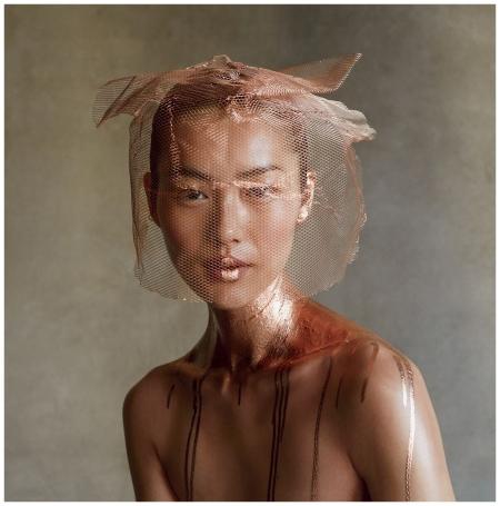 Liu Wen Patrick Demarchelier, Vogue, February 2013