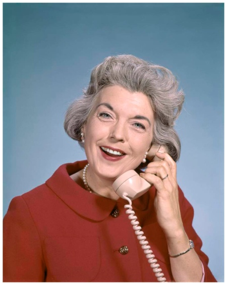 Mature woman talking on telephone.  1960 (Photo by H. Armstrong Roberts:Retrofile:Getty Images)