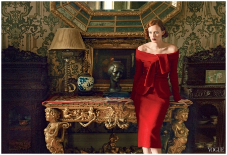 Photo Annie Leibovitz, %22the other man Vogue%22, October 2013 Karen Elson