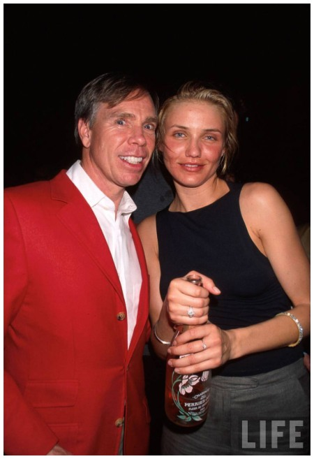 Fashion designer Tommy Hilfiger and actress Cameron Diaz Dave Allocca 1997