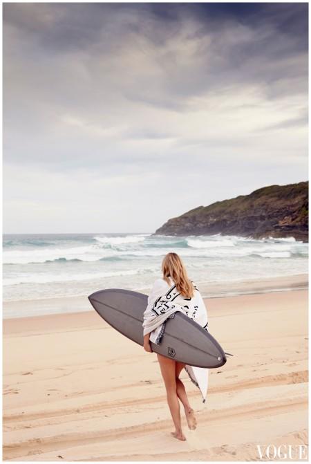 Gemma Ward Return Vogue - Oct 2014 Seal Rocks in Australia Photo Beau Grealy