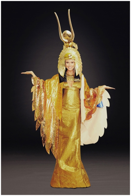 Heidi Klum gives fans a preview of her 2012 look - a golden Cleopatra outfit Getty Archive