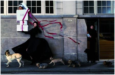 Béatrice Dalle pour Azzedine Alaïa, Paris, 1998 - Photo Jean-Paul Goude