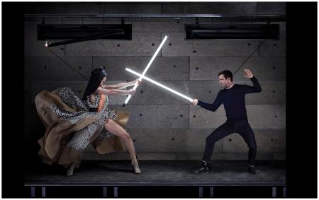 Charlotte Gaisnbourg et Nicolas Guesquière, Harper's Bazaar US, 2012 - Photo Jean-Paul Goude