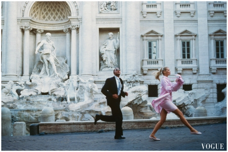 "Claudia Schiffer. Vogue us december 1994 ""Roman Holiday"" Photo Arthur Elgort"