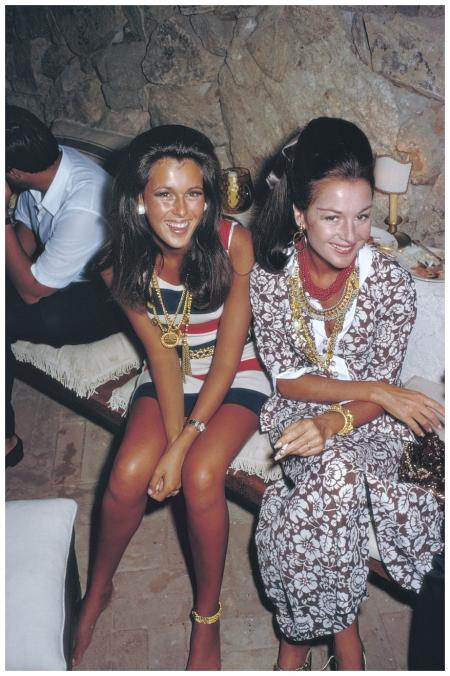 Contessa Consuelo Crespi an American born model and Pilar Crespi Costa smeralda 1968