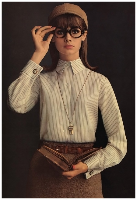 """From the Famous Shirtmaker for Men,"" Jean Shrimpton, Lady Van Heusen, 1964. For Altman, Stoller. Photo William Helburn"