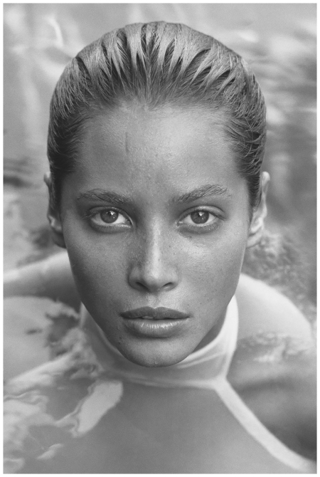 Herb Ritts - Christy in White 7, Los Angeles, 1988