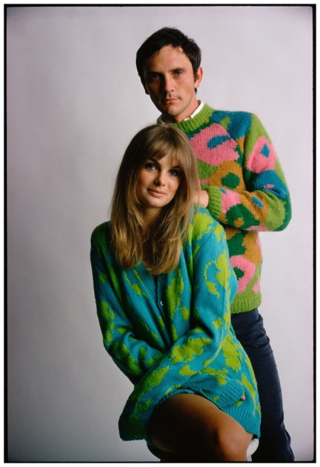 Jean Shrimpton and Terence Stamp photographed for Ladies' Home Journal in 1967