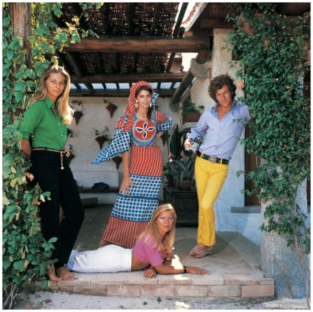 "Per Sweet's caption, ""Hanging out at Ira Furstenberg's new Porto Rotondo villa, 1968  Duchess Ines Torlonia photographer Patrick Lichfield"