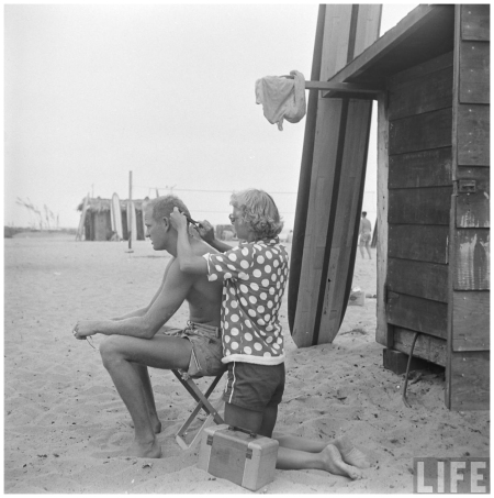 San Onofre, Calif., 1950 hair b