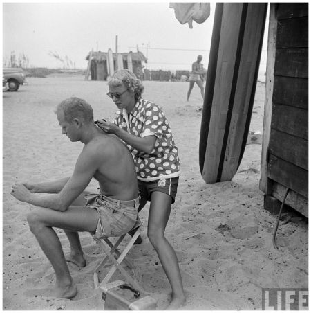 San Onofre, Calif., 1950 hair
