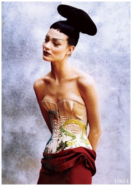Shalom Harlow - Peter Lindbergh, Vogue, April 1997