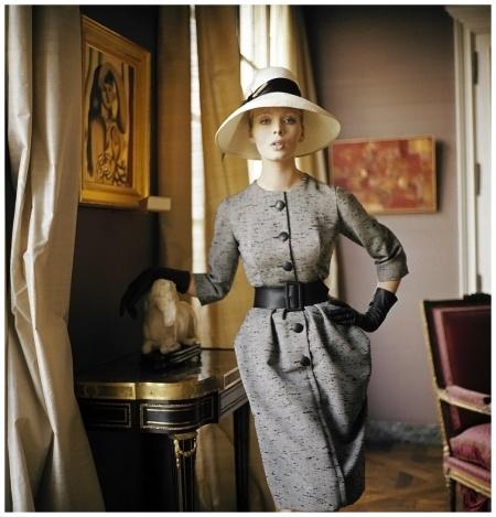 Christa Päffgen %22NICO%22 Robe de jour, 1960 - Photo Mark Shaw