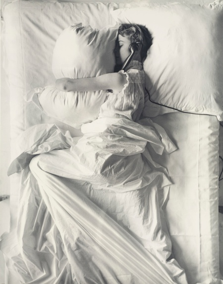 'Girl (IN BED) On Telephone' 1949