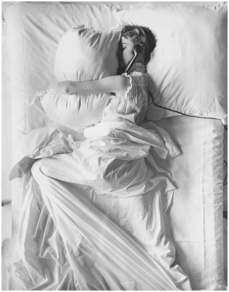 'Girl (IN BED) On Telephone' Jean Patchett New York, Apr. 2, 1949 Photo Iving Penn
