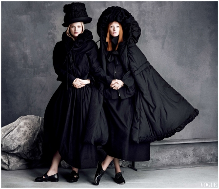 Guinevere Van Seenus Maggie Rizer in Yohji Yamamoto Perfect Icons Luigi + Iango for Vogue japan September 2014