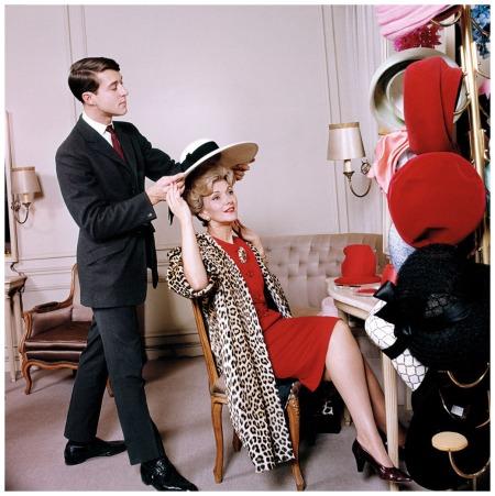 Halston at Bergdorf Goodman, for The Saturday Evening Post, 1962 © Ormond Gigli