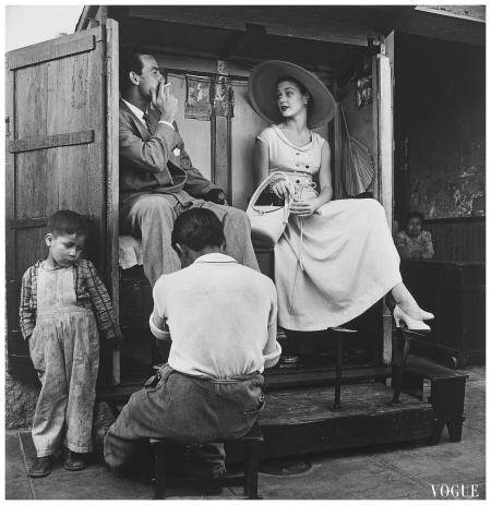 Jean Patchett Vogue Fashion Photograph in Lima, Peru 1948 Photo Irving Penn