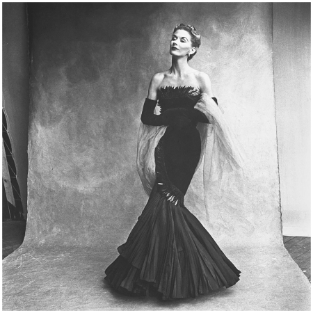 Lisa Fonssagrives in evening gown by Marcel Rochas,Paris, Vogue, Sept. 15, 1950 Photo Irving Penn