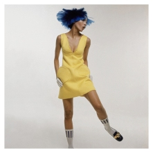 Blue Haired Woman in Courreges Dress