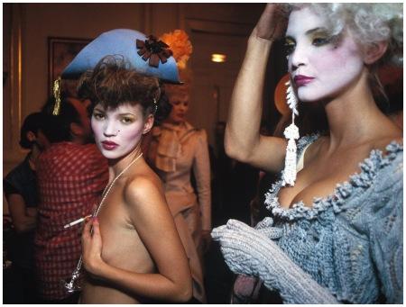 Photo Harry Benson Back Stage Kate Moss Nadja Auerman 1993