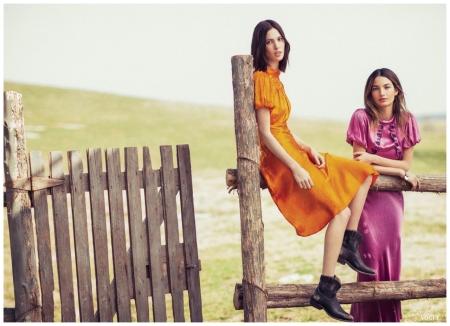 Ruby & Lily Aldridge - Photo Sebastian Kim, Vogue, May 2013