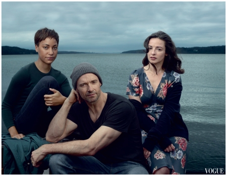 Cush Jumbo, Jackman, and Laura Donnelly Annie Leibovitz, Vogue, November 2014