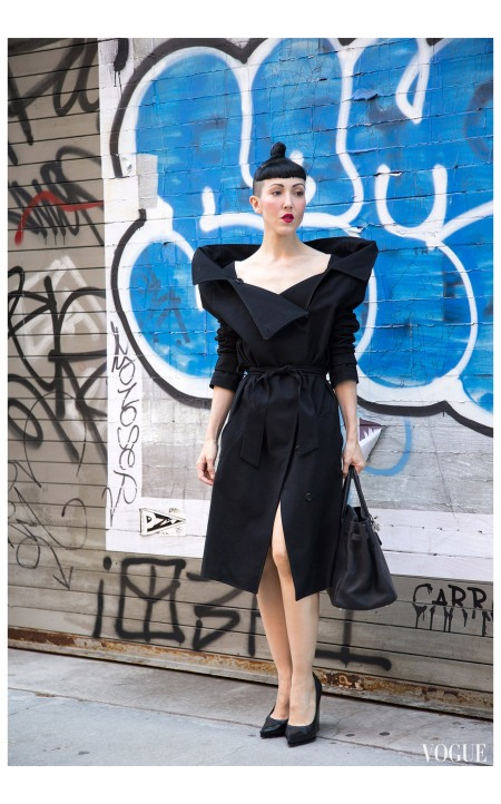 Michelle Harper wearing vintage Maison Martin Margiela Photo By Dvora