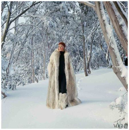 Veruschka Walking in the Snow