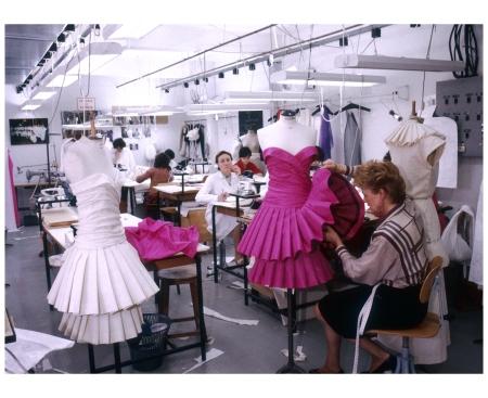 Making Dresses in Christian Dior Workshop