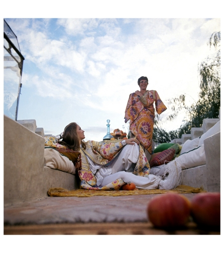 Talitha & Paul Getty  Photo Patrick Lichfield, Vogue, January 15, 1970