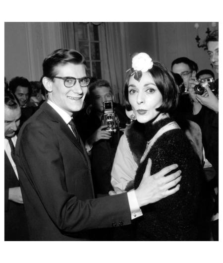 Yves Saint Laurent and Kouka Denis 1959