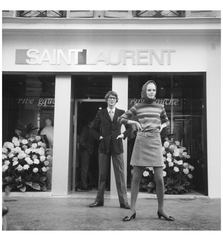 MODE : BOUTIQUE RIVE GAUCHE D'YVES SAINT LAURENT 1966