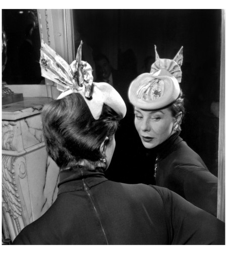 Bettina Wearing a hat by Legnoux Jan 1954