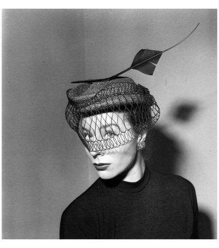 Bettina Wearing a hat by Rose Valois Jan 1951 Everett