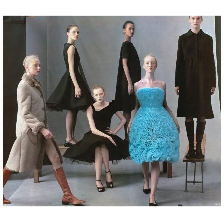 Carmen Kass, Karen Elson, Liya Kebede, Maggie Rizer, Missy Rayder, Malgosia Bela, Colette Pechekhonova Photo Steven Meisel 2000