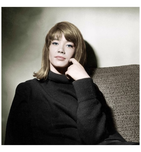 Françoise Hardy eing the original yé-yé girl and championing emerging sixties designers like André Courrèges and Paco Rabanne Everett