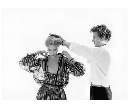 Hair style Christiaan Houtenbos long time director Elgort Studio and Lisa Cooper Vogue 1977 Photo Arthur Elgort