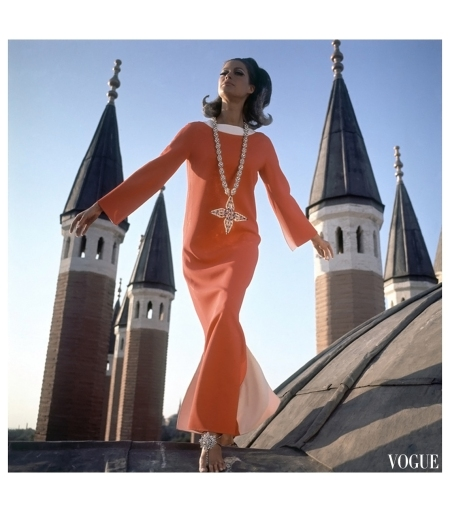 Istanbul, Turkey, is the setting for this Henry Clarke photograph, which appeared in the December 1, 1966, Vogue Editha Dussler, Antonia and Sveva in Turkey by Henry Clarke for Vogue, December 1966