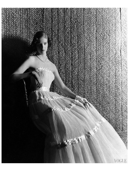 Lady Melissa Wyndham-Quin in Sybil Connelly Photo Cecil Beaton, Vogue, August 15, 1953