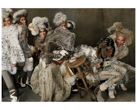 Liu Wen, Lais Ribeiro, Kasia Struss and Jourdan Dunn Magdalena Frackowiak - Karlie Kloss, Joan Smalls vogue-2010 Photo Steven Meisel
